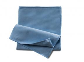 Microfasertuch Seidenvelours blau 40x40 cm