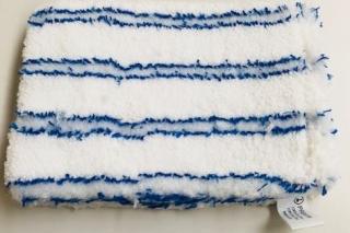 Mikrofaser-Handschuh blau/weiß gestreift